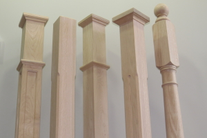 Photo of our Standard Newel Post in comparison to our competitor's.